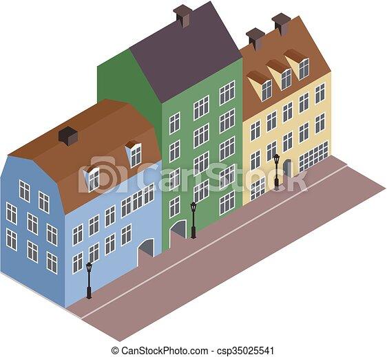 Isometric street - csp35025541