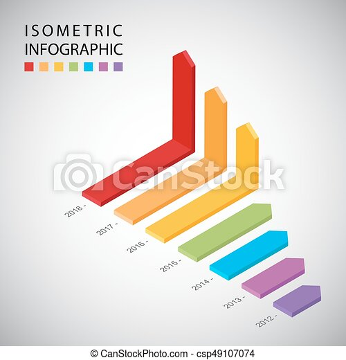 isometric timeline infographic design template workflow layout