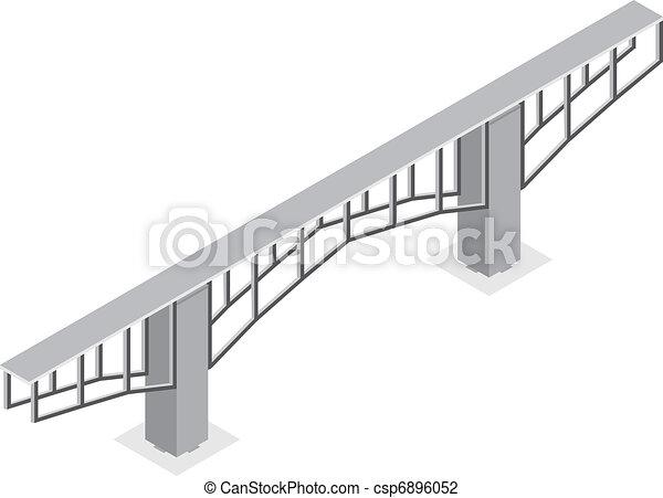 isometric view of the bridge - csp6896052