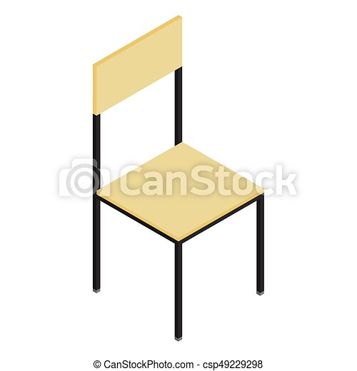 isometric wooden chair vector illustration 3d isometric eps rh canstockphoto com furniture clipart for floor plans free furniture clipart 1/4 scale