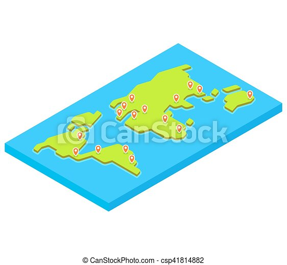Isometric world map with main capital cities stylized 3d flat isometric world map with main capital cities stylized 3d flat vector illustration gumiabroncs Choice Image