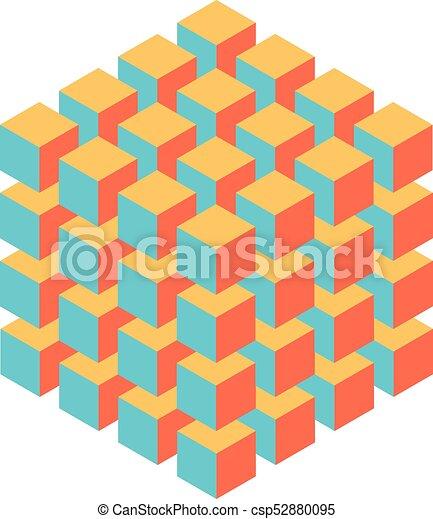 Isometrico cubo pi piccolo scienza astratto oggetto for Disegno 3d free
