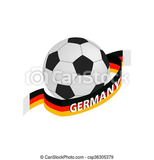 Isometrisch Fussball Deutschland Mannschaft Ikone 3d