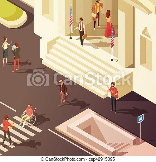 Regierungsleute isometrische Illustrationen - csp42915095