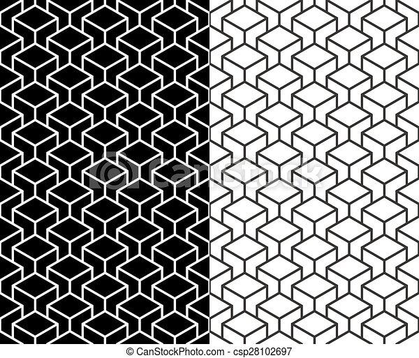 Isometrisch, würfel, muster, hintergrund, linie, 3d. Website ...