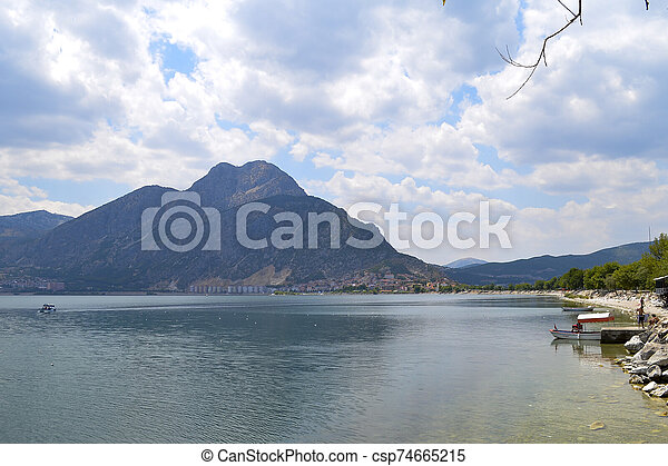 Isparta province Egirdir lake - csp74665215