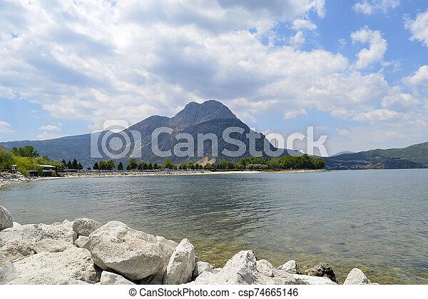 Isparta province Egirdir lake - csp74665146