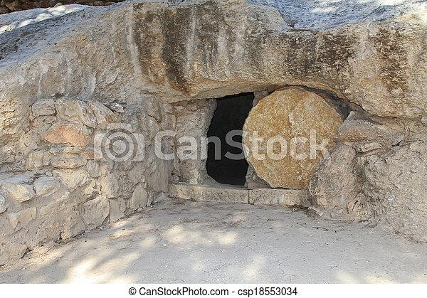 isr, tumba, réplica, jesús - csp18553034