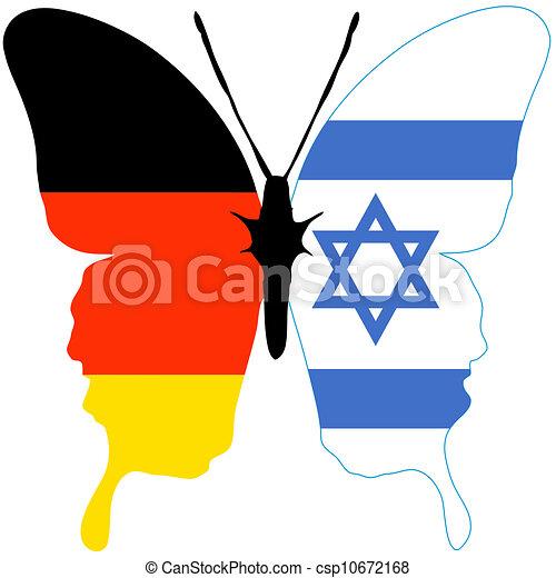 israel deutschland vers hnung beziehung l nder symbol zwei zwischen schlie en. Black Bedroom Furniture Sets. Home Design Ideas