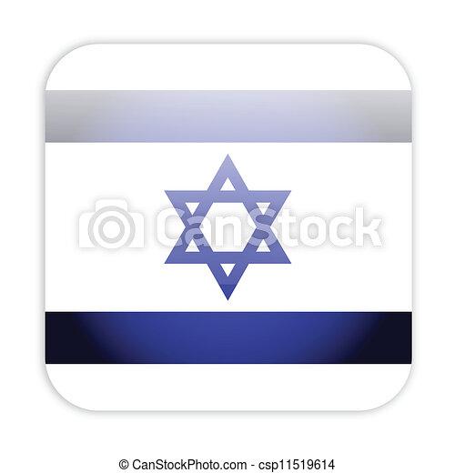 Israel flag button - csp11519614