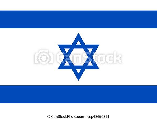 Bandera oficial israelí - csp43650311