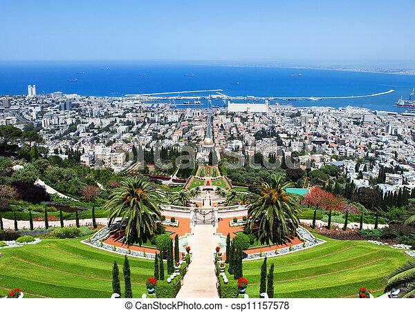Jardines Bahai en Haifa Israel - csp11157578