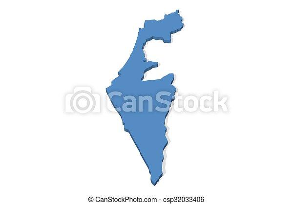 Israel Map   Csp32033406