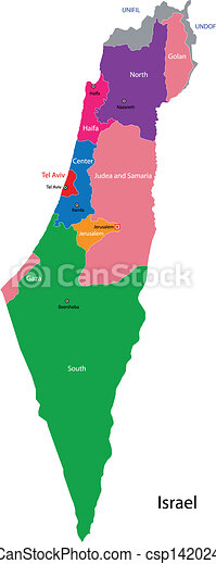 Lovely Israel Map   Csp14202400
