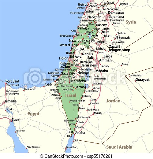 Israel-World-Countries-VectorMap-A
