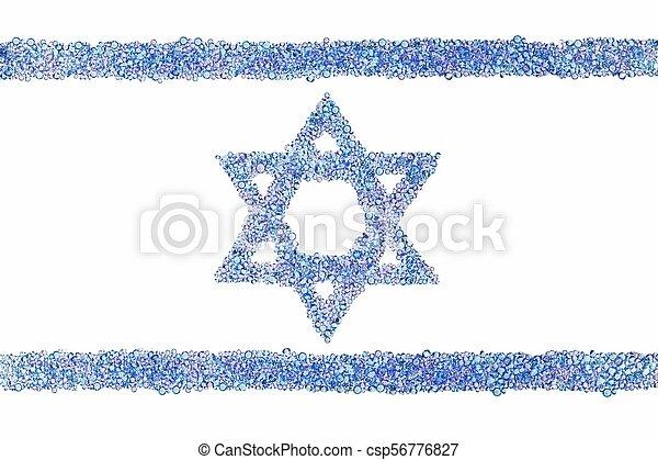 Israeli flag from diamonds - csp56776827