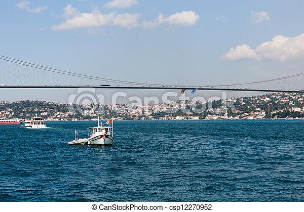 Istambul - Bosporus Bridge connecting Europe and Asia  - csp12270952