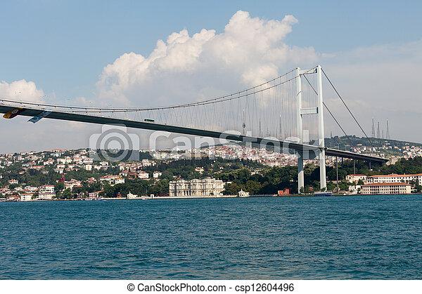 Istambul - Bosporus Bridge connecting Europe and Asia  - csp12604496