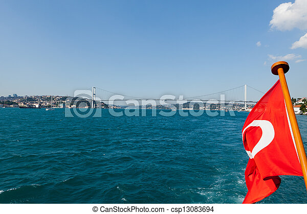 Istambul - Bosporus Bridge connecting Europe and Asia  - csp13083694