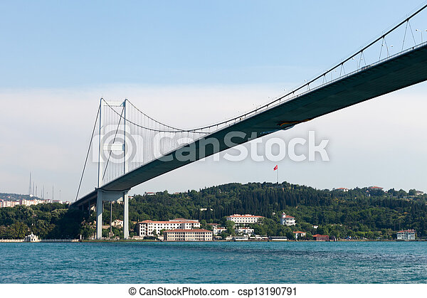 Istambul - Bosporus Bridge connecting Europe and Asia  - csp13190791