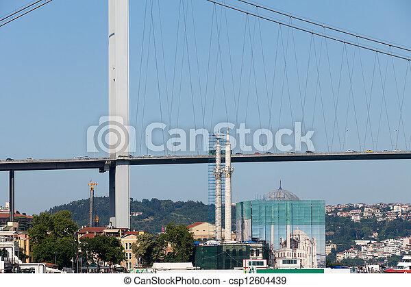 Istambul - Bosporus Bridge connecting Europe and Asia  - csp12604439