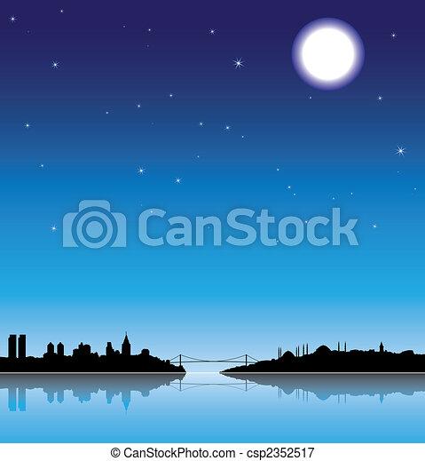 Istanbul at night  - csp2352517