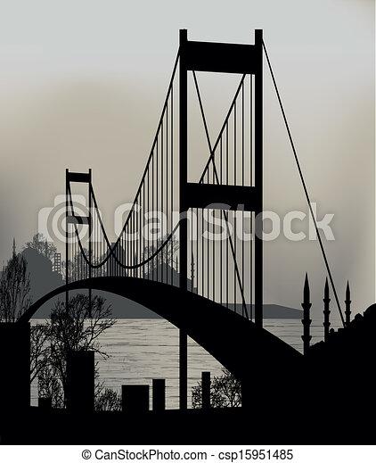 Istanbul Bosphorus Bridge - csp15951485