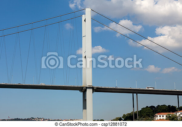 Istanbul - Bosporus Bridge connecting Europe and Asia  - csp12881072
