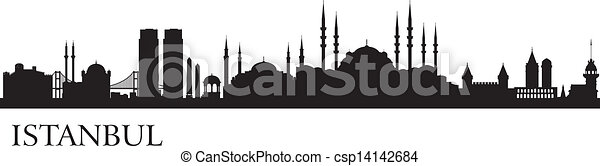 Istanbul city silhouette - csp14142684