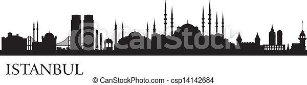 Istanbul city silhouette - csp14142684