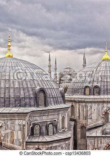 Istanbul landmarks  - csp13436803