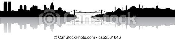 Istanbul silhouette - csp2561846