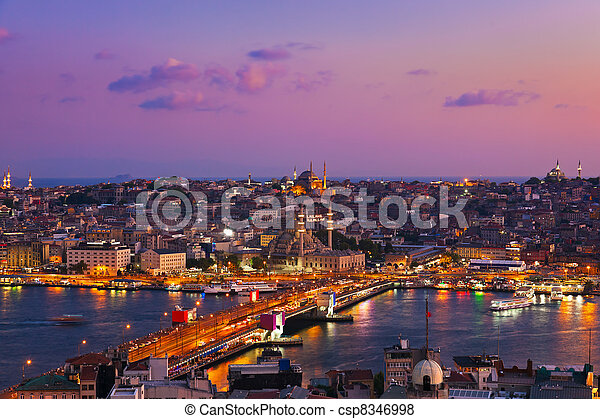 Istanbul sunset - csp8346998