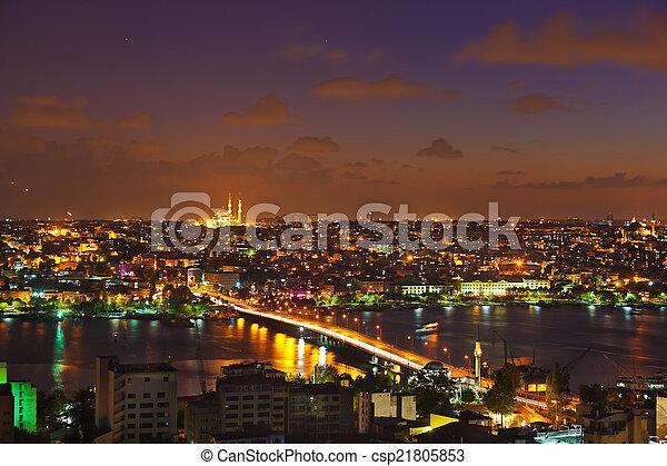 Istanbul sunset - csp21805853