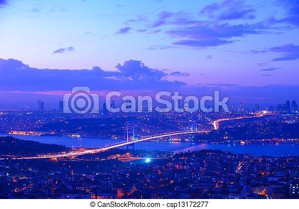 Istanbul Turkey Bosporus Bridge - csp13172277