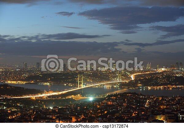 Istanbul Turkey Bosporus Bridge - csp13172874