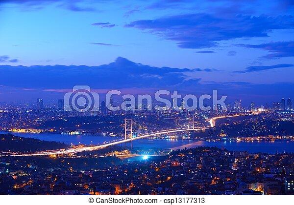 Istanbul Turkey Bosporus Bridge - csp13177313