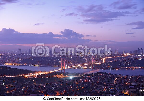 Istanbul Turkey Bosporus Bridge - csp13269075