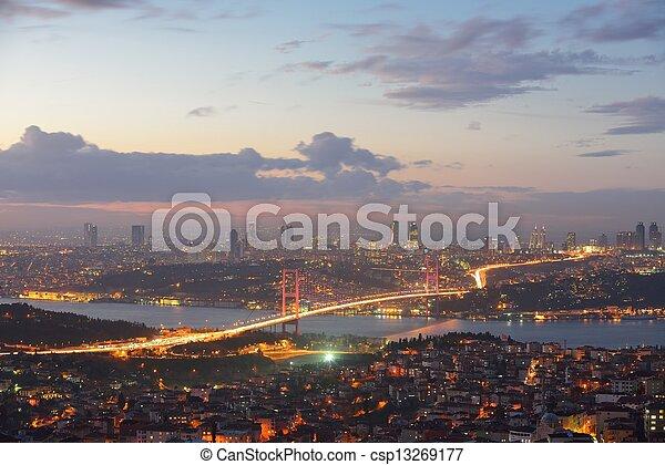 Istanbul Turkey Bosporus Bridge - csp13269177