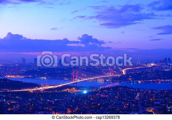 Istanbul Turkey Bosporus Bridge - csp13269378