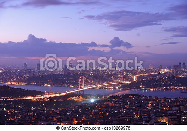 Istanbul Turkey Bosporus Bridge - csp13269978