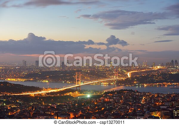 Istanbul Turkey Bosporus Bridge - csp13270011