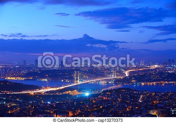 Istanbul Turkey Bosporus Bridge - csp13270373