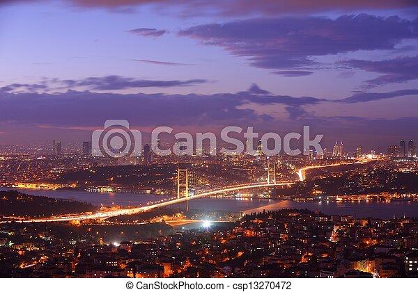 Istanbul Turkey Bosporus Bridge - csp13270472
