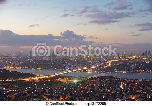 Istanbul Turkey Bosporus Bridge - csp13172285