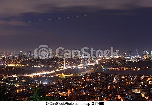 Istanbul Turkey Bosporus Bridge - csp13174981