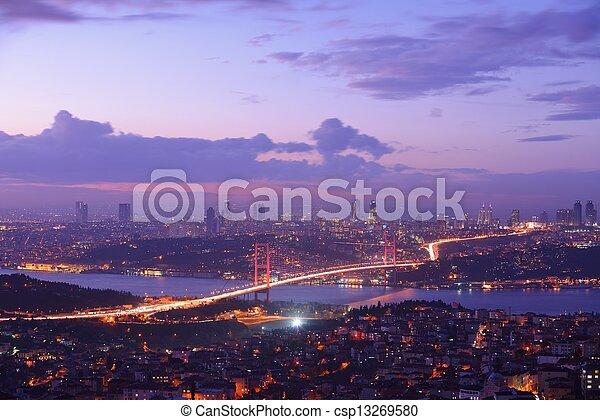 Istanbul Turkey Bosporus Bridge - csp13269580