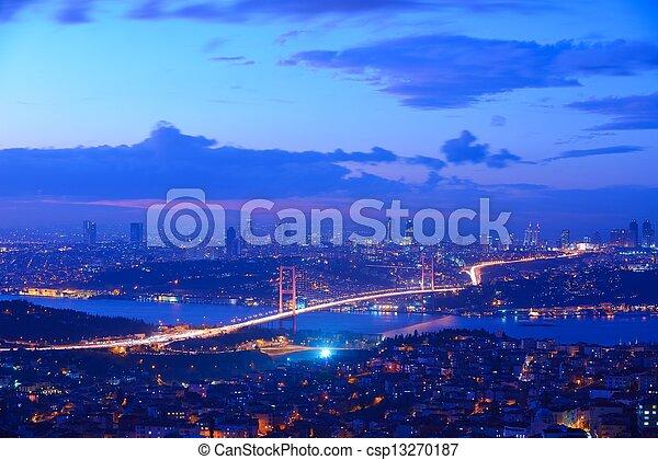 Istanbul Turkey Bosporus Bridge - csp13270187
