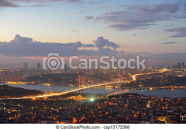 Istanbul Turkey Bosporus Bridge - csp13172366
