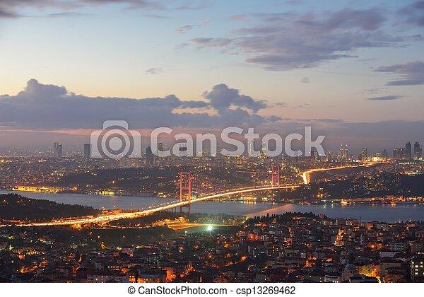 Istanbul Turkey Bosporus Bridge - csp13269462